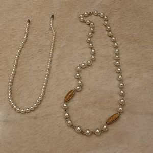 Pearl  type necklaces